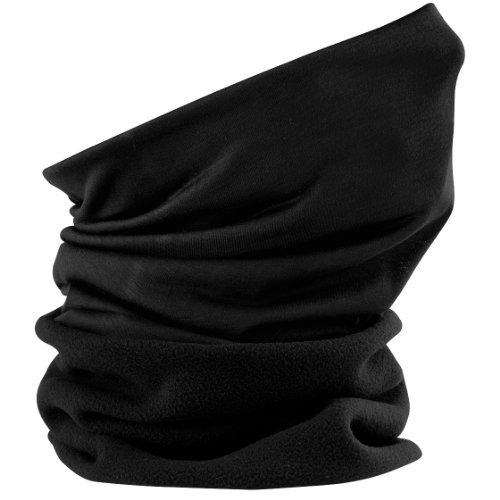 Beechfield Morf SupraFleece Schlauchschal, verschiedene Farben Schwarz - Schwarz