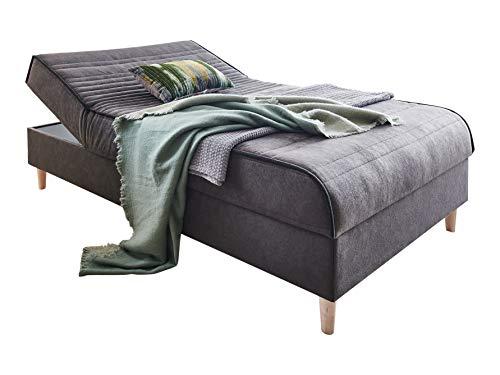 Atlantic Home Collection SABABA Bett und Polsterliege Tagesbett, anthrazit, 120x200 cm