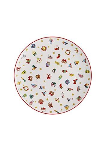 Hutschenreuther Christmas Memories di 40Anni con Ole Winther Piatto Piano, Porcellana, Multicolore, 28x 28x 3cm