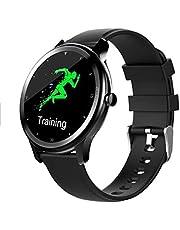 Smartwatch 2020 New Bluetooth Smart horloge waterdicht G28 Ultradunne Fitness Oefening Tracker Heart Rate Bloeddruk Bloeddruk Sleep Monitoring Custom Dial (Color : Black)