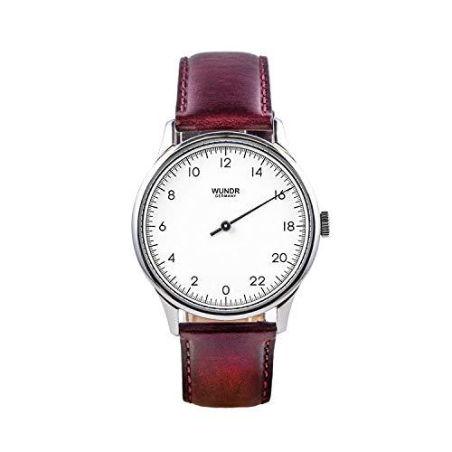 WUNDRWATCH – die 24h Einzeigeruhr für Herren mit Wechselarmbändern (Schweizer Uhrwerk  ...