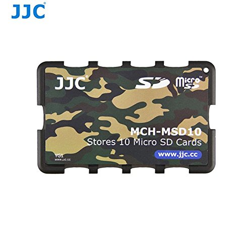 JJC MCH-MSD10 Credit Card Size Memory Card Holder Hard Case for 10...