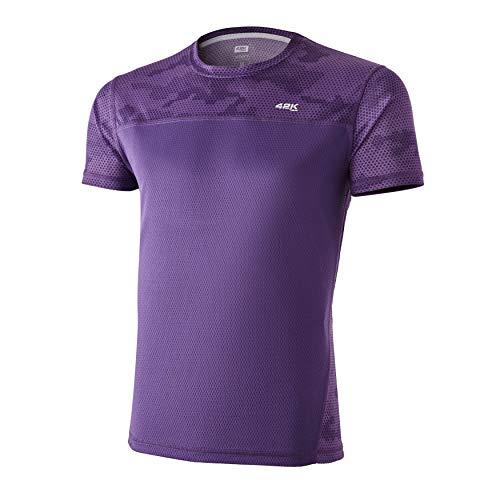 42K Running - Camiseta técnica 42K MIMET Hombre Magic Purple Hexagon XXL