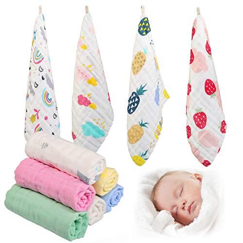 Ballery Toalla Facial Infantil, 10 Piezas Toallas de Muselina para Bebés Toalla...
