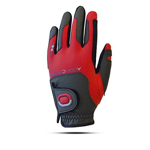 ZOOM Aqua Control Herren Regen Golfhandschuh - Linkshand für Rechtshänder (Red/Black)