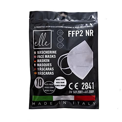 Elle 10 weiße Masken FFP2 NR zertifiziert CE2841