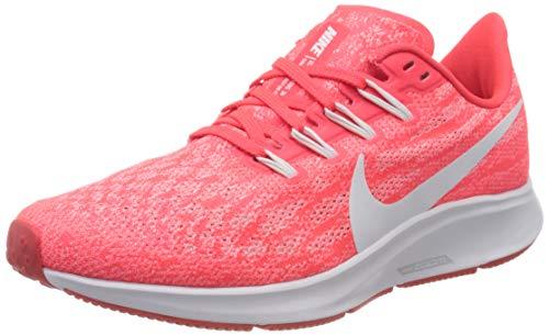 Nike Damen Air Zoom Pegasus 36 Straßen-Laufschuh, Laser Crimson/White-Platinum T, 38.5 EU