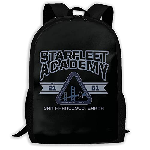 Hdadwy Starfleet Academy Mochila de poliéster, Mochila con Estampado Completo, Mochila Escolar de Viaje de Ocio de Moda para Adultos, Mochila Escolar Cool Children.