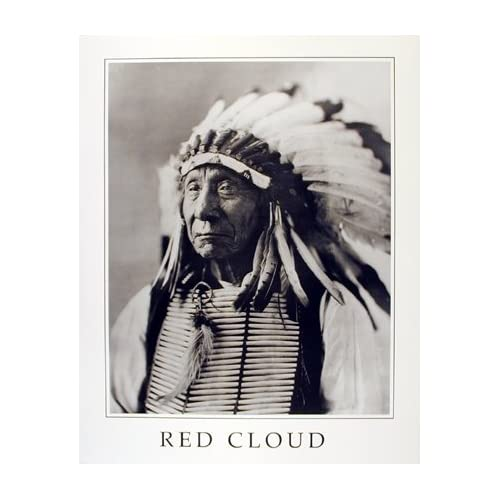 Amazoncom Native American Wall Decor Indian Chief Red Cloud