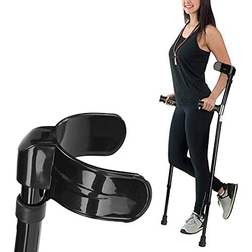RGHS Muletas De Antebrazo, Muletas Dobles Ajustables para Adultos con Diseño Ergonómico, Muletas De Apoyo para Caminar, Muletas De Puño Abierto para Soporte De Movilidad para Lesiones/Discapacidades 🔥