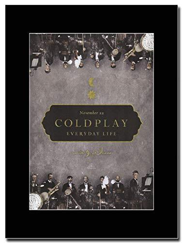 gasolinerainbows - Coldplay - Everyday Life - Magazin Promo-Artwork auf Einer schwarzen Halterung - Matted Mounted Magazine Promotional Artwork on a Black Mount