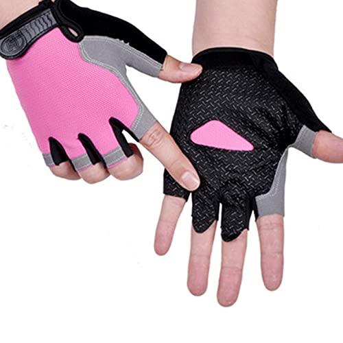 Feixing Guantes de medio dedo protector solar antideslizante transpirable para hombres mujeres al aire libre Ciclismo deportes