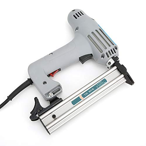 Fafeicy Pistola de clavos eléctrica OW-F30, motor de bobinado de alambre de cobre completo, para decoración de carpintería pequeña, cuero, tela, EU Plug 220 V