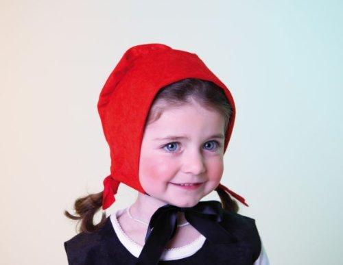 Kinder Karneval Rotkäppchen Haube Zubehör passend zum Märchen Kostüm