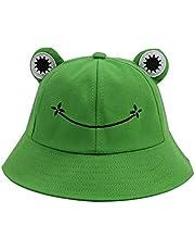 CHAW Cappello Estivo in Cotone Carino con Rana Cappello da Pescatore Unisex Cappello da Pescatore Cappello da Festival