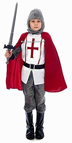 Chevalier Costume de déguisement,pour les enfants 6-8 ans