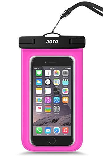 "Bolsa Estanca Móvil Universal, JOTO IPX8 Bolsa Seca Impermeable para iPhone 11Pro MAX/XS/XR/X/8 Plus, Galaxy Note10+/S20 Ultra/S20+/S10e, Huawei Xiaomi LG BQ hasta 6,9\"" -Rosado"