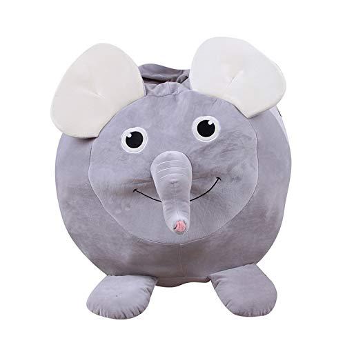 LDIW Stofftier Kuscheltiere Aufbewahrung Aufbewahrungstasche Sitzsack Kinder Plüschtiere Aufräumsack,Small Elephant