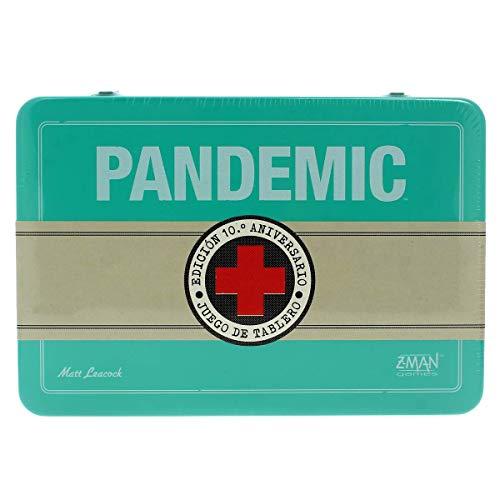 Z-man Games España - Juego Pandemic (10º Aniversario) Azul