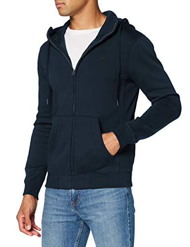 G-STAR RAW Herren Cardigan Sweater Premium Core Hooded Zip, Legion Blue C235-862, Small