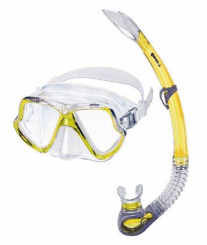 Mares Schnorchelset Wahoo mit Tauchmaske und Schnorchel für Erwachsene (gelb)