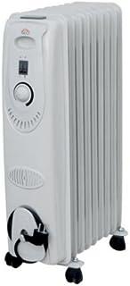 DCG Eltronic RA2811 Color blanco 2000W Radiador - Calefactor (Radiador, Aceite, Piso, Color blanco, Giratorio, 2000 W)