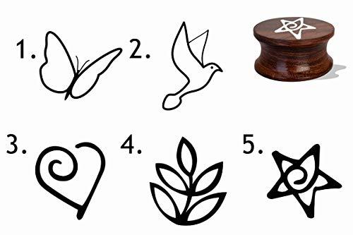 IMPACT2PRINT Sello de goma montado en madera y acrílico de diseño personalizado DIY sellos idea de regalo