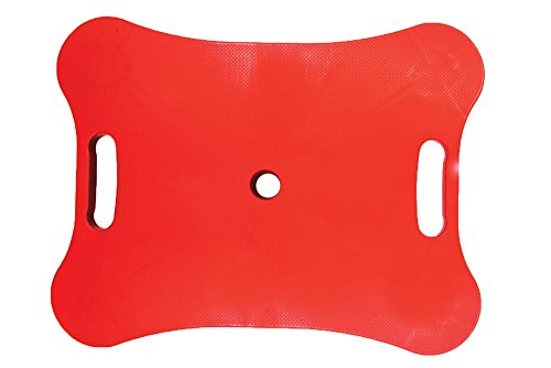 hand2mind Heavy-Duty Plastic Scooter Board with Safety Handles for Physical Education Class or Home Use, Red (84788)