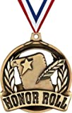 Crown Awards Honor Roll Medals -2' and 10 Per Pack-Great for Education, Scholastic, Report Card, Academic, Excellence, Recognition, Achievement