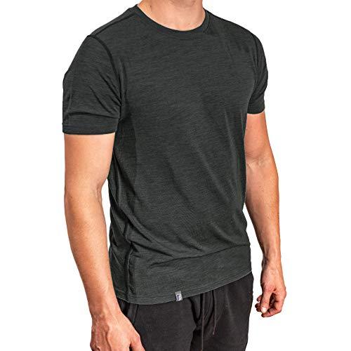 ALPIN LOACKER Camiseta de Manga Corta, 100% Lana de Merino - Suave y Secado Rápido - T-Shirt termorreguladora para Cotidiano Deportivas Senderismo Escalada Trekking Esquí, Tshirt Hombre Mujer Niños