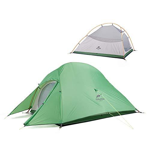 Naturehike Cloud-up 2 Ultraleichtes Campingzelt für 2 Personen - Wasserdichtes Doppelschicht Backpackingzelt 4 Seasons(Grün)
