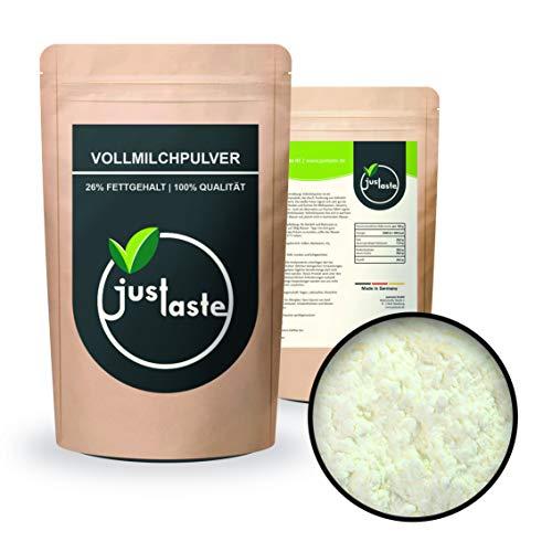 5 kg Vollmilchpulver | 26% Fett | Trockenmilch sprühgetrocknet | justaste | Milchpulver Vollmilch getrocknet Milch Pulver