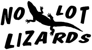No Lot Lizards Funny - Sticker Graphic - Auto, Wall, Laptop, Cell, Truck Sticker for Windows, Cars, Trucks