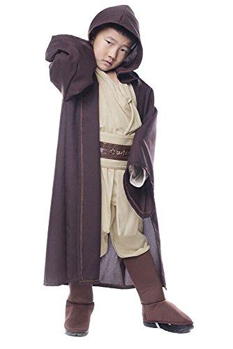 Fuman Jedi Obi Wan Kenobi Cosplay Kostüm Halloween Kinder Anzug Uniform M