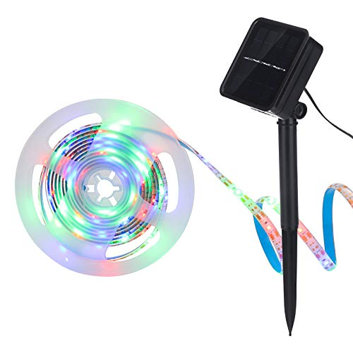 Houkiper Lichtleiste Led Strip Solar, Solar Lichterkette Aussen Led Band 3m Lichterketten Solar Außenbereich Gartenverzierung