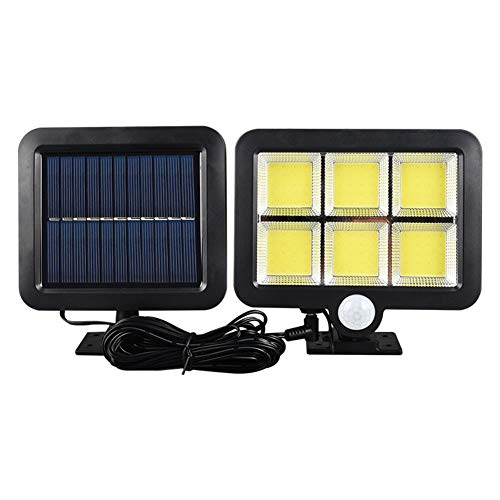 Nicejoy Solar Light Garden Cob Lamp 120cob Split Solar Street Lamp Sensor Security Ultra Bright Waterproof Outdoor for Garden Fence Yard