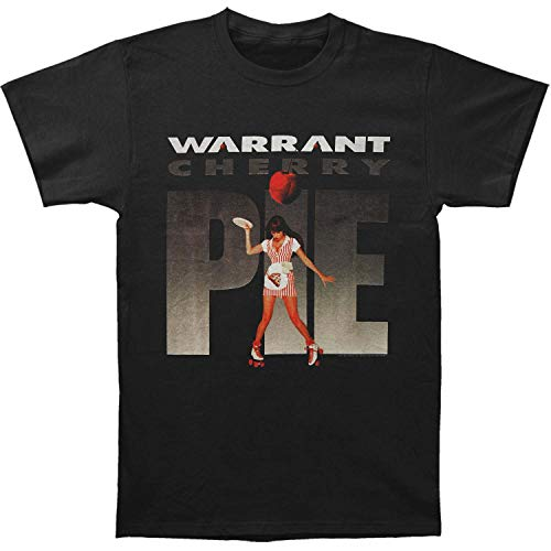 Warrant American Glam Metal Band Cherry Pie Album Black 2-Sided Adult T-Shirt