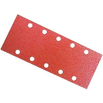 10x Schleifpapier für Schwingschleifer 115x232mm 10-Löcher Körnung 80