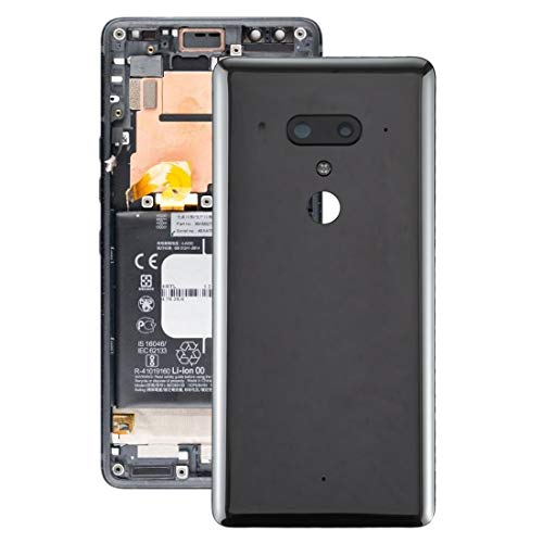 HTC Spare Akku Rückseite mit Kamera-Objektiv for HTC U12 Plus HTC Spare (Color : Black)