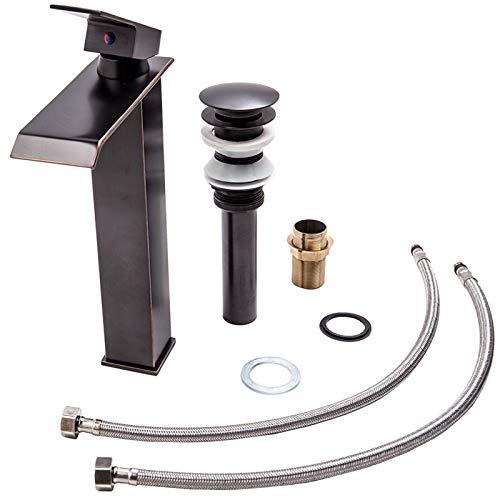 Fácil de Instalar Faucet 304 Baño de Acero Inoxidable Cuenca Faucet Lavabo Lavabo Fregadero Alto Grifo de encimera Fengdiu
