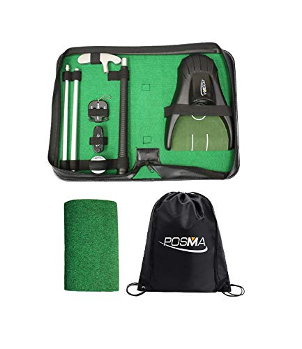 POSMA GSP150D All-in-1 Golf Putting Training Executive Gift Set Perfect Golf Training Putter Gift...