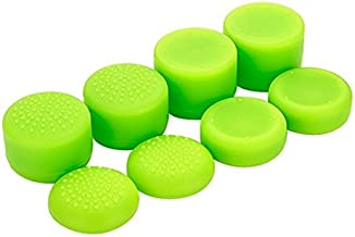 Pack of 8 pcs Analog Controller Gamepad Raised Antislip Thumb Stick Grips Thumbsticks Joystick Cap Cover for PS4, PS3, Switch Pro, Xbox one, Xbox 360, Wii U, PS2 Controller (Green)