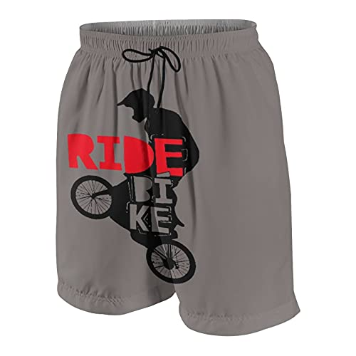 Men's Personalized Swim Trunks,Cool BMX Design Ride Bike Bicycle for Men & Boys - BMX Gift - Bike Gift,Beachwear Swimsuits Board Shorts Bathing Suits