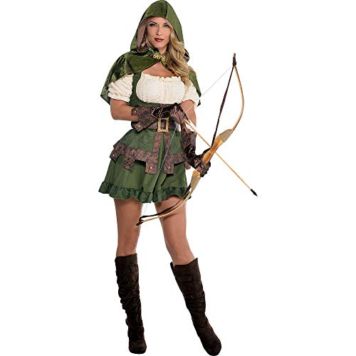 amscan Miss Robin 847031-55 Costume avec capuche attachée Taille XL