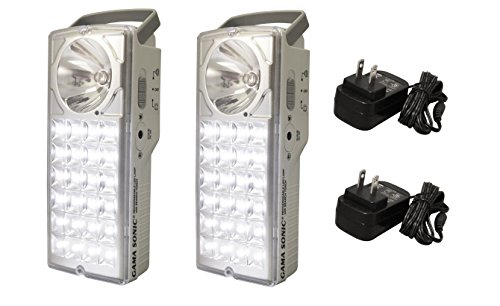 Gama Sonic DLG2-972LS Lantern, Rechargeable 24-LED Emergency/High-Beam...