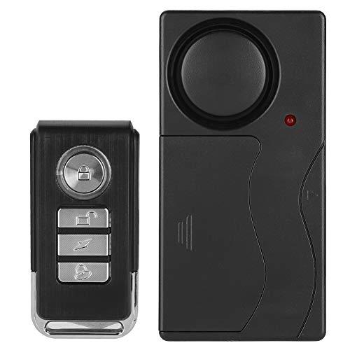 Seguridad Alarma antirrobo Alarma de vibración Control remoto Respuesta sensible Inalámbrico con diseño profesional para puerta Ventana Bicicleta
