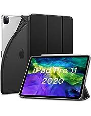 ESR iPad Pro 11 ケース 2020 オートスリープ/ウェイク対応 [鑑賞/タイピングスタンドモード][ゴム製カバー付き柔軟性抜群TPU背面] リバウンドスリムスマートケース(ブラック)
