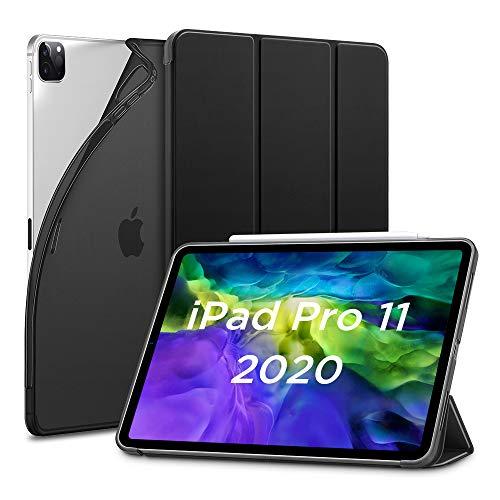 """ESR Hülle kompatibel mit iPad Pro 11"""" 2020, Rebo& Slim Smart Hülle mit Auto Schlaf-/Wachfunktion [Ansichts-/Tippstandmodus] [Flexible TPU Rückseite mit gummierter Vorderseite] - Schwarz"""