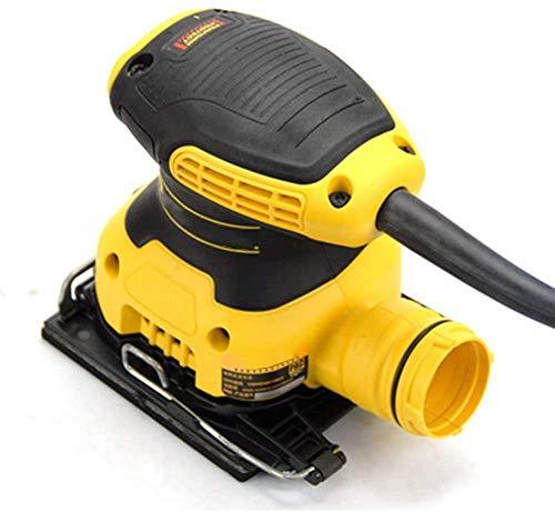 Lijadora, 220V 230W Lijadora eléctrica redonda de mano, con bolsa para polvo con interruptor de polvo Dar 1 pieza de papel de lija adecuado, para pulir paredes esmerilado de madera-A