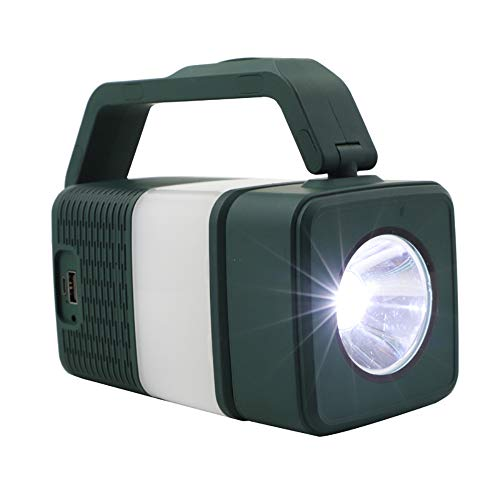 Linterna LED recargable para camping, linterna brillante con altavoz Bluetooth, banco de energía de 4400 mAh, perfecta para emergencias, exteriores, senderismo y hogar, cable USB incluido
